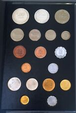 Israel 18 UNC Coins Set 1949-1960's - Including 250 & 500 Silver Pruta coins