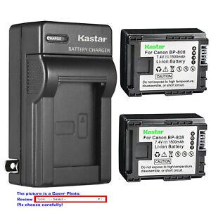 Kastar Battery Wall Charger for Canon BP-808 CG-800 Canon VIXIA HF100 Camcorder