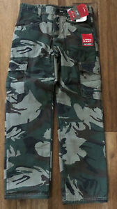 CAMOUFLAGE TROUSERS IN 2 COLOURS SIZE 4-16  YEARS NEW BOYS**FULLY LINED COMBAT