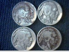 1919-1920-1926-1936 Buffalo Nickels- ( 4 Different  Coins)- F/VF   V9006