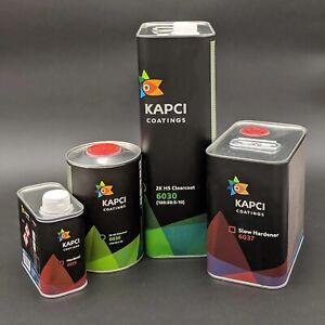 Kapci 6030 High Solids (55%) Anti Scratch Euro Clear Coat Kit. 7.5L Kit Medium A