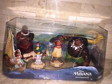 DISNEY STORE MOANA CAKE TOPPER 5 PC FIGURINE PLAYSET