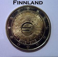 """2 Euro Gedenkmünze Finnland 2012 Gemeinschaftsausgabe """"10 Jahre Euro-Bargeld"""""""