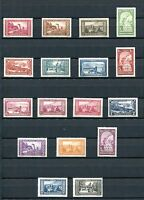 1933.MONACO.YVERT 119/34*.NUEVOS CON FIJASELLOS.(MH).CAT 640 €