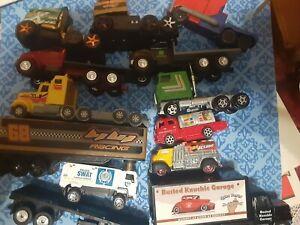 Diecast 1/64 Scale Model Truck Semi Trucks Lot Of 14