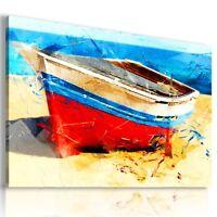 PAINTING BOAT SEA OCEAN BEACH PRINT CANVAS WALL ART PICTURE LARGE AB703 X MATAGA