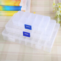 10/15/24 Compartment Organiser Plastic Storage Box Loom Band Craft Nail Art Bead