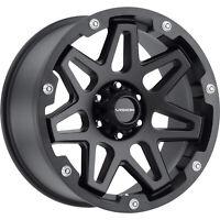 "6x139.7 4 Wheels 18"" Inch Rims Vision SE7EN 416 18x9 -12mm Black"