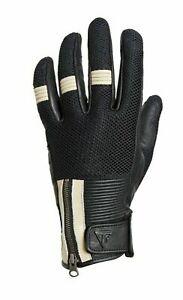 Triumph Raven Mesh Gloves Black tan Leather Gloves MGVS18130-L  size Large