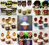 PACK OF 12 SUPERHERO AVENGERS CUPCAKE WRAPPERS & TOPPERS BIRTHDAY PARTY SUPPIES