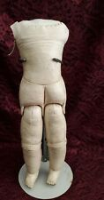 Antique German Leather Doll Body For Bisque Shoulder Head Doll