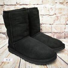 Womens UGG Australia Black Classic Short II Boots UK 3.5 EUR 36 - Model 5825