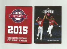 2015 Washington Nationals Pocket Preliminary Schedule - Rendon, Werth - REDUCED!
