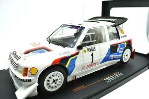 Miniature voiture Peugeot 205 T16 E2 auto 1:18 IXO Rally 1986 Rallye Véhicules