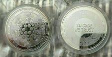 999 Silver Plated Cardano ADA Crypto currency. 1.2 oz. Collectible Novelty Coin