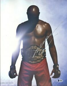 ANDERSON SILVA SIGNED AUTO'D MAGAZINE PAGE BAS COA UFC 200 SPIDER 11X14 PHOTO