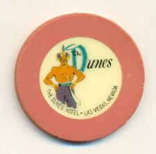 DUNES HOTEL CASINO POKER CHIP---. VERY RARE TRUE PINK ROULETTE--