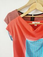 Country Road Silk Red Gemetric Cowl Neck + Portmans Top {XS/S}