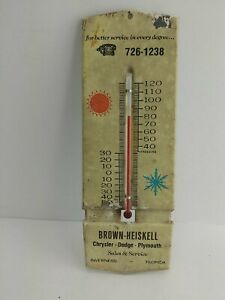 1960s Chrysler Dodge Plymouth Car Dealer Ad Thermometer Inverness Florida (7A1)