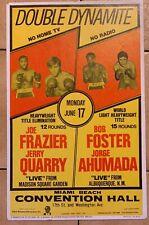 Mint Original 1969 Joe Frazier Vs. Jerry Quarry Vintage Boxing Poster Bob Foster