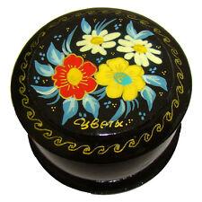 Boîte à pilules Boite ronde en bois - Fleurs, Boite laquee Kholoui FLEURS bijoux