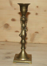 Vintage hand crafted ornate bronze candlestick candle holder