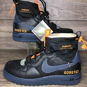 Nike Air Force 1 WTR GTX Gore-Tex Mens 6.5 / Wmn 8 Black Blue Orange CQ7211-001