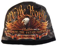 WE THE PEOPLE Beanie Knit Cap Motorcycle 2nd Amendment Biker Army USMC Hat Ski