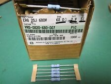 5 Pack Matsushita Metal Oxide Film 68 OHM 2 Watt 5% Resistors NOS ERG2SJ680V