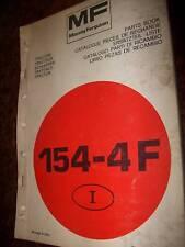 Massey Ferguson tracteur 154-4F : catalogue pièces 1985
