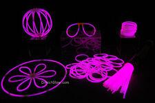 """50- 8"""" Pink Glow Stick Bracelets Party Pack"""