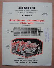 █ Pub Avertisseur Automatique d'Incendie MONITO 1928 █