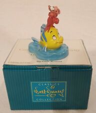WDCC THE LITTLE MERMAID OFF SHORE OVATION SEBASTIAN FLOUNDER DISNEY + BOX/COA