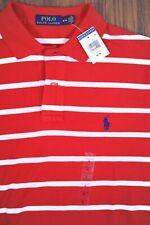 NWT Polo Ralph Lauren Polo Shirt Red Stripe Men's Medium M