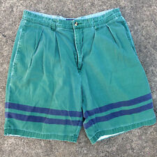 Vintage 90s Grunge Tommy Hilfiger Khaki Chino Color Block Shorts Surf Stripe