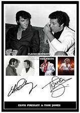 224.  ELVIS PRESLEY &  TOM JONES  SIGNED  A4 PHOTOGRAPH ++++++