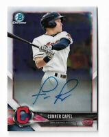 2018 Bowman chrome baseball BCPA-Conner Capel chrome prospect auto Cleveland