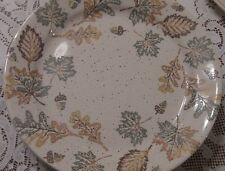 corelle LEAF set of 8 Dinner Plates.  Fall. Leaves. Acorns PRISTINE!