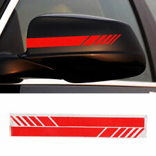 2x  Carbon Fiber Car Rearview Mirror 5D Sticker Decal Emblem Decors