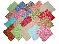 "20 10"" Antique Calico Reproduction Quilting Fabric Layer Cake Squares NEW ITEM"