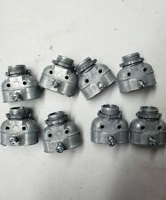 Lot of 8 2699 Non-Insulated Duplex Cable Connector; 3/8 Inch, Die-Cast Zinc,