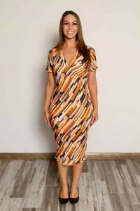 Diane Von Furstenberg Bias-cut Silk Dress With Collar, Excellent Condition