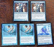 LOT CARTE MAGIC // Bleu 2 x or + 3 argent \ MTG FRANCAIS