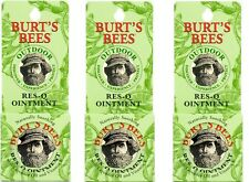 Lot of 3 - Burt's Bees 100% Natural Res-Q Ointment 0.6 oz