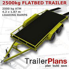 Trailer Plans - 2500KG FLATBED CAR TRAILER PLANS - PLANS ON CD-ROM