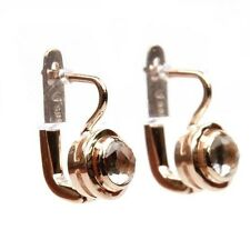 New Pair of 14k Rose Gold and Smoky Topaz Earrings
