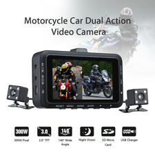 """3"""" LCD Motorcycle DVR HD Dual Action Camera Driving Video Recorder Night Vision"""