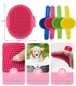 Brush For Pet Dog Puppy Cats Grooming  Massaging Brush Rubber Pad For All Hair