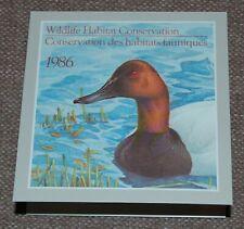 Canada Wildlife Habitat Conservation (Ducks) 1986 complete booklet