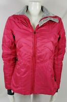 Columbia Sportswear Interchange Womens Jacket pink Zip Up Omni Heat thumb hole M